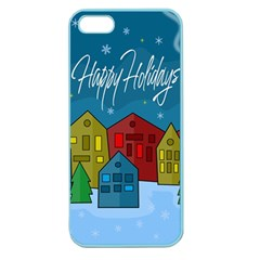 Xmas Landscape Apple Seamless Iphone 5 Case (color) by Valentinaart