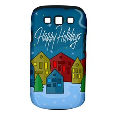 Xmas Landscape Samsung Galaxy S Iii Classic Hardshell Case (pc+silicone) by Valentinaart