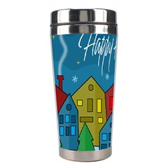 Xmas Landscape Stainless Steel Travel Tumblers by Valentinaart