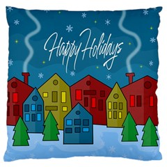 Xmas Landscape Standard Flano Cushion Case (two Sides) by Valentinaart