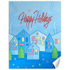 Xmas Landscape   Happy Holidays Canvas 12  X 16   by Valentinaart