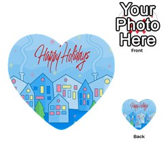 Xmas Landscape   Happy Holidays Multi Purpose Cards (heart)  by Valentinaart