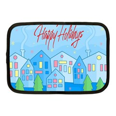 Xmas Landscape   Happy Holidays Netbook Case (medium)  by Valentinaart