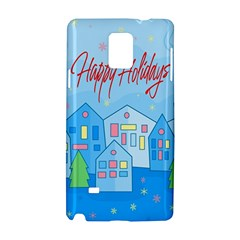 Xmas Landscape   Happy Holidays Samsung Galaxy Note 4 Hardshell Case by Valentinaart