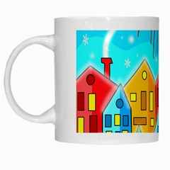 Christmas Magical Landscape  White Mugs by Valentinaart