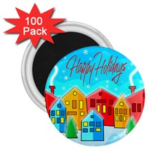 Christmas Magical Landscape  2 25  Magnets (100 Pack)  by Valentinaart