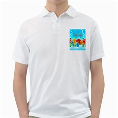 Christmas Magical Landscape  Golf Shirts by Valentinaart