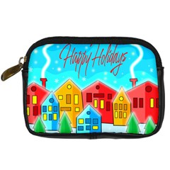 Christmas Magical Landscape  Digital Camera Cases by Valentinaart