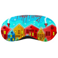 Christmas Magical Landscape  Sleeping Masks by Valentinaart