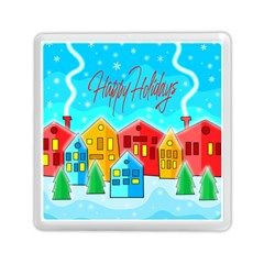 Christmas Magical Landscape  Memory Card Reader (square)  by Valentinaart