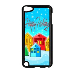 Christmas Magical Landscape  Apple Ipod Touch 5 Case (black) by Valentinaart
