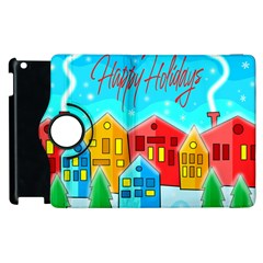 Christmas Magical Landscape  Apple Ipad 2 Flip 360 Case by Valentinaart