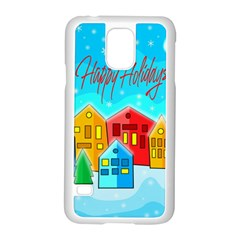 Christmas Magical Landscape  Samsung Galaxy S5 Case (white) by Valentinaart