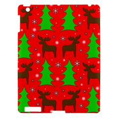 Reindeer And Xmas Trees Pattern Apple Ipad 3/4 Hardshell Case by Valentinaart