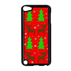 Reindeer And Xmas Trees Pattern Apple Ipod Touch 5 Case (black) by Valentinaart