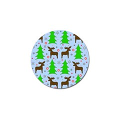 Reindeer And Xmas Trees  Golf Ball Marker (4 Pack) by Valentinaart