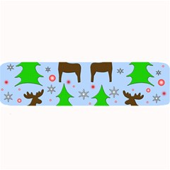 Reindeer And Xmas Trees  Large Bar Mats by Valentinaart