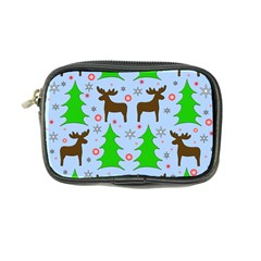 Reindeer And Xmas Trees  Coin Purse by Valentinaart