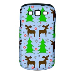 Reindeer And Xmas Trees  Samsung Galaxy S Iii Classic Hardshell Case (pc+silicone) by Valentinaart