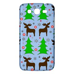 Reindeer And Xmas Trees  Samsung Galaxy Mega 5 8 I9152 Hardshell Case  by Valentinaart