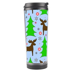 Reindeer And Xmas Trees  Travel Tumbler by Valentinaart