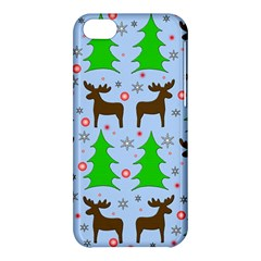 Reindeer And Xmas Trees  Apple Iphone 5c Hardshell Case