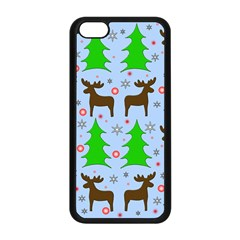 Reindeer And Xmas Trees  Apple Iphone 5c Seamless Case (black) by Valentinaart