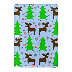 Reindeer And Xmas Trees  Samsung Galaxy Tab Pro 10 1 Hardshell Case by Valentinaart