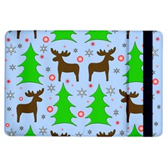 Reindeer And Xmas Trees  Ipad Air Flip by Valentinaart