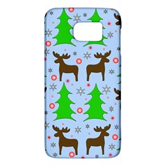 Reindeer And Xmas Trees  Galaxy S6 by Valentinaart