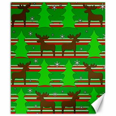 Christmas Trees And Reindeer Pattern Canvas 20  X 24   by Valentinaart