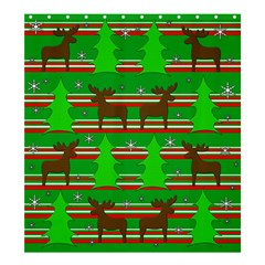 Christmas Trees And Reindeer Pattern Shower Curtain 66  X 72  (large)  by Valentinaart