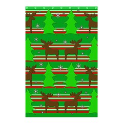 Christmas Trees And Reindeer Pattern Shower Curtain 48  X 72  (small)  by Valentinaart