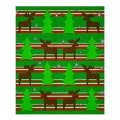 Christmas Trees And Reindeer Pattern Shower Curtain 60  X 72  (medium)  by Valentinaart