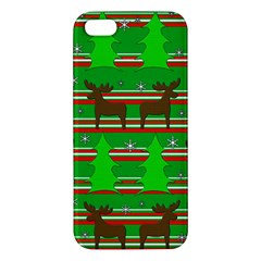 Christmas Trees And Reindeer Pattern Apple Iphone 5 Premium Hardshell Case by Valentinaart