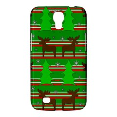 Christmas Trees And Reindeer Pattern Samsung Galaxy Mega 6 3  I9200 Hardshell Case by Valentinaart