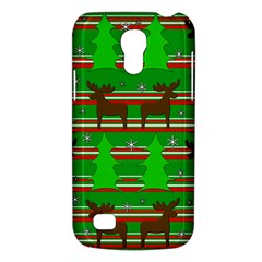 Christmas Trees And Reindeer Pattern Galaxy S4 Mini by Valentinaart