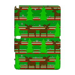 Christmas Trees And Reindeer Pattern Samsung Galaxy Note 10 1 (p600) Hardshell Case by Valentinaart