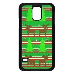 Christmas Trees And Reindeer Pattern Samsung Galaxy S5 Case (black) by Valentinaart