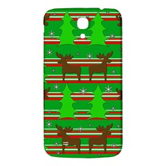 Christmas Trees And Reindeer Pattern Samsung Galaxy Mega I9200 Hardshell Back Case by Valentinaart