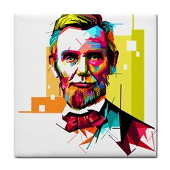 Abraham Lincoln Tile Coasters by bhazkaragriz