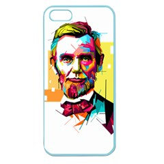 Abraham Lincoln Apple Seamless Iphone 5 Case (color) by bhazkaragriz