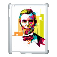 Abraham Lincoln Apple Ipad 3/4 Case (white) by bhazkaragriz