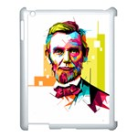 Abraham Lincoln Apple iPad 3/4 Case (White) Front