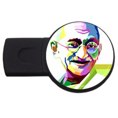 Ghandi Usb Flash Drive Round (4 Gb)  by bhazkaragriz