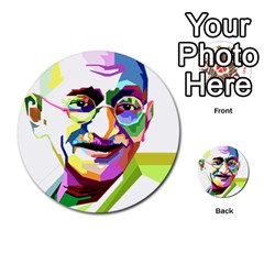 Ghandi Multi Purpose Cards (round)  by bhazkaragriz