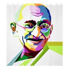 Ghandi Shower Curtain 66  X 72  (large)  by bhazkaragriz