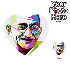 Ghandi Multi Purpose Cards (heart)  by bhazkaragriz