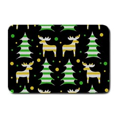 Decorative Xmas Reindeer Pattern Plate Mats by Valentinaart