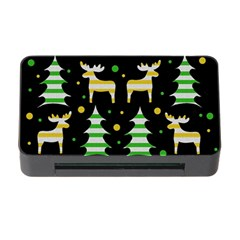 Decorative Xmas Reindeer Pattern Memory Card Reader With Cf by Valentinaart